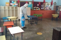 Muğla Büyükşehir Okulları ve Servis Araçlarını Dezenfekte Ediyor