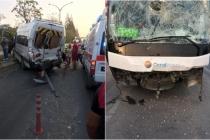Muğla'da Tur Otobüsü, Servis Minibüsüne Çarptı!