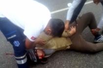 Muğla Sakar'da Kaza Yapan Motosikletliyi Kaskı Kurtardı