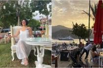 Şarkıcı Göksel Göcek'te Lotis Restoran'ı Tercih Etti