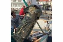 Marmaris'te Balıkçıların Ağına Bu Kez Heykel Takıldı