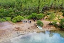 Bodrum'da Cennet Koy'da Çevre Temizliği Yapıldı