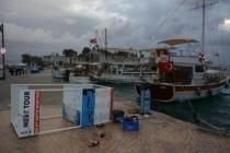 Datça'da Kuvvetli Rüzgar Etkisini Sürdürüyor
