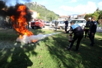 Marmaris Belediyesi'nde Yangın Tatbikatı