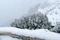 Muğla'nın Datça İlçesinde Yüksek Kesimler Beyaza Büründü