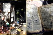 Bodrum'da Küle Dönen Barakada Yanmayan Tek Şey Kur'an-ı Kerim Oldu