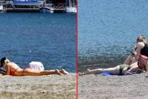 Marmaris'te Vatandaşlar Tam Kapanma Öncesi Denizin Keyfini Çıkardılar