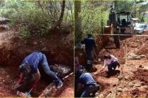 Menteşe'de Yol Çalışmasında 2 Bin 300 Yıllık Mezar Bulundu