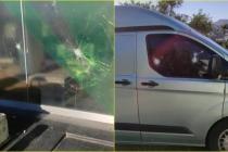 Bodrum'da Bankaya ve Zırhlı Araçlara Taşlı Saldırı