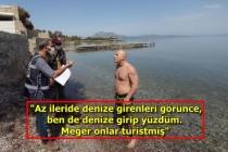 Datça'da Turistleri Görerek Denize Giren Vatandaşa Ceza Kesildi