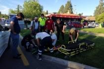 Menteşe'de Kaza Yapan Motosiklet Sürücüsünü Kaskı Kurtardı