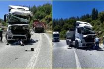 Milas'ta İki Tır Kafa Kafaya Çarpıştı: 2 Yaralı