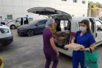 Milas'ta Sağlık Çalışanlarına Yumurta İle Teşekkür Etti