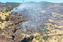 Bodrum'da Verici İstasyonlarının Bulunduğu Alanda Çıkan Yangın Söndürüldü