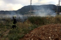 Menteşe'de Yüksek Gerilim Hattına Düşen Yıldırım, Otluk Alanda Yangınına Neden Oldu
