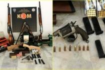 Muğla Cumhuriyet Başsavcılığı Tarafından Yürütülen Soruşturma Kapsamında Çok Sayıda Silah Ele Geçirildi