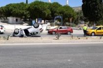 Bodrum'da Alkollü Sürücü Otomobili Devirdi