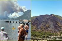 Marmaris'teki Orman Yangını Enerji Nakil Hatlarından Çıkmış