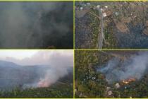 Bodrum'daki Orman Yangınını Söndürme Çalışmaları Havadan Görüntülendi