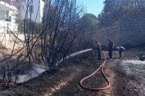 Bodrum'da Yangın Paniği, Alevler Evlere Sıçramadan Söndürüldü