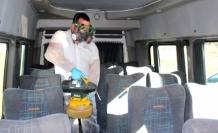 Okul Servisleri Koronavirüse Karşı Dezenfekte Ediliyor