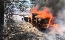 Menteşe'de Çıkan Yangında Arı Kovanları Küle Döndü