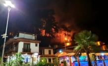 Dün Akşam Akyaka'da Çıkan Orman Yangını Korkuttu