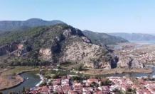 Ortaca'da Deniz Kaplumbağasına Benzetilen Dağ İlgi Çekiyor