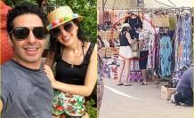Mert Fırat ve Eşi İdil Fırat Bodrum Yalıkavak'taki Halk Pazarında Görüntülendi