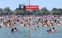 """Suriyeliler, İstanbul'un Ortasında """"Allahu Ekber"""" Diye Bağırıp Denize Girdiler"""