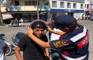 ORTACA'DA JANDARMADAN MOTOR SÜRÜCÜLERİNE...