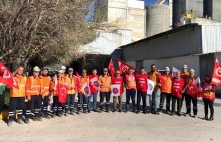 DİSK Kireç Sanayii İşçilerini Yalnız Bırakmadı