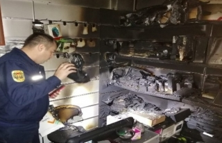 Milas'ta Elektrik Kontağından Yangın Çıktı