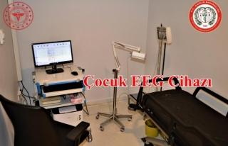 MSKÜ Hastanesi'nde Çocuk EEG Laboratuvarı...