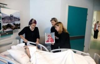 Vekil Gökcan Aylin'i Hastanede Ziyaret Etti