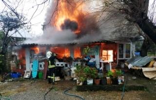 Köyceğiz'de Çıkan Yangında Bir Ev Küle...