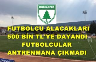 Muğlaspor'da Futbolcular Antrenmanı Boykot...