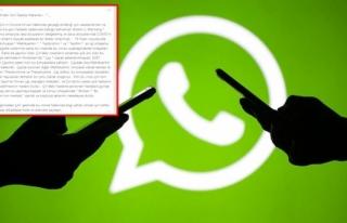 WhatsApp'ta Elden Ele Dolaşan Bir Mesaj Daha...