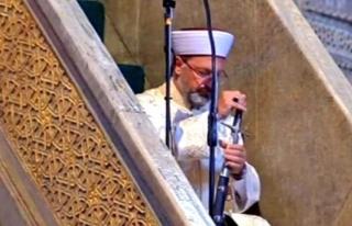 Diyanet İşleri Başkanı Ayasofya Camii'nde...