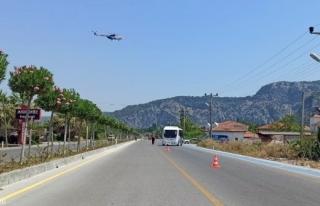 Muğla Jandarmasından Helikopterle Bayram Trafiği...