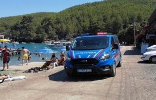 Muğla Plajlarında Jandarmanın Maske Denetimi Arttı
