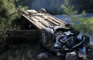 Fethiye'de Otomobil Takla Attı: 2 Yaralı