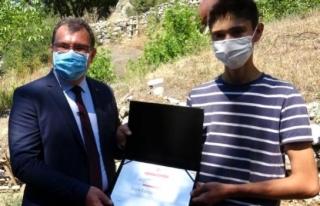 TÜBİTAK Başkanı Mandal, Köyceğizli Genç Mucidi...