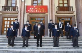 Milaslı Gazilerden Vali Orhan Tavlı'ya Ziyaret