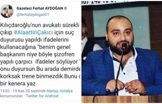 Alaattin Çakıcı'nın Danışmanı Ferhat Aydoğan:...