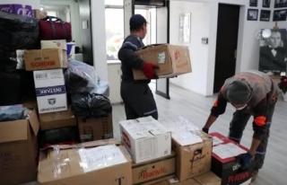 Menteşe'de Depremzedeler İçin Toplanan Yardımlar...
