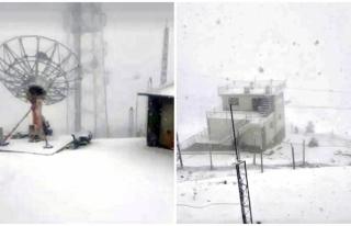 Muğla'nın Kavaklıdere İlçesinde Kar Kalınlığı...