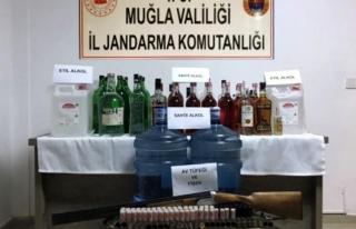 Bodrum'da Yeni Yıl Öncesi 68 Litre Sahte Alkol...