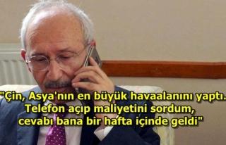 Kılıçdaroğlu, İktidara Bu Kez Çin Üzerinden...