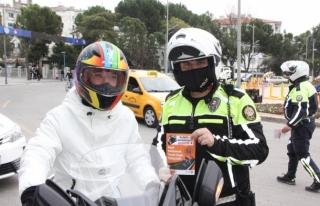 Muğla'da Motosiklet Sürücülerine Kask Kullanımına...